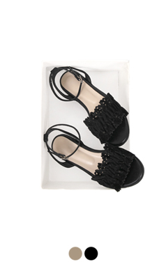 [GOOD PRICE] <br> lacy shirred sandals