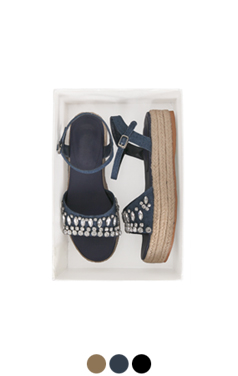 [GOOD PRICE] jeweled espadrille sandals