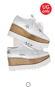 favorite oxford creepers <br> with star (white)
