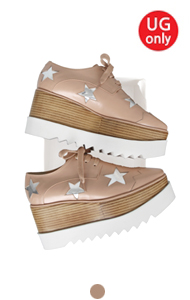 favorite oxford creepers <br> with star (pink beige)