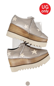 favorite oxford creepers <br> with star (gray)