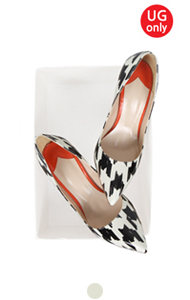 UTG sophia houndstooth pumps
