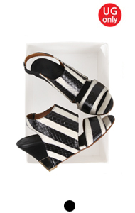 "UTG sling-back wedge (stripe) <br> <font color=#ff9999 size=""1.9"" face=verdana>BEST BUY</font>"