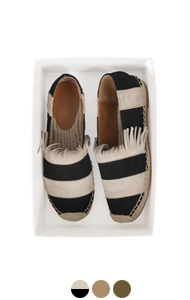 fringed suede espadrilles <br> (3 colors)