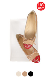"UTG LIPS BALLET FLATS <br> (3 colors) <br> <font color=#ff9999 size=""1.9"" face=verdana>BEST BUY</font>"