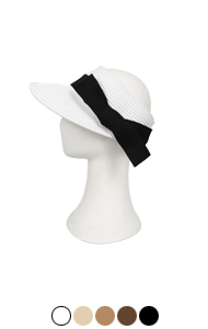 side-bow paper braid visor <br> (5 colors)