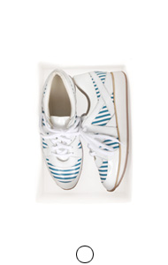 stripe paneled sneakers