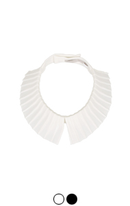 "petit pleats collar <br> (2 colors) <br> <font color=#ff9999 size=""1.9"" face=verdana>BEST BUY</font>"