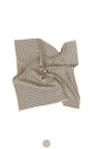 elegant stripe silk scarf
