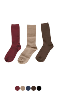 everyday rib socks <br> (5 colors)