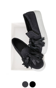 tassel pointed suede slipon <br> (2 colors)