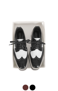 wingtip flatform oxfords <br> (2 colors)
