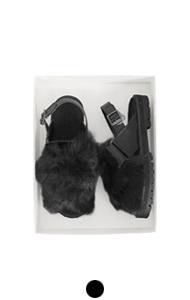 [GOOD PRICE] <br> fur slide sandals # 05