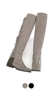 It fringed fifty fifty boots <br> (2 colors)