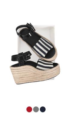 [GOOD PRICE] <br> striped strap espadrilles