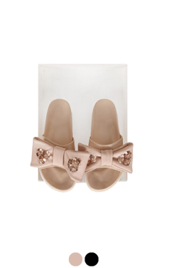 [GOOD PRICE] <br> sequined bow slippers