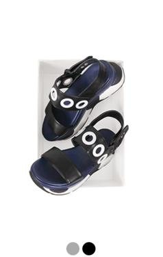 [GOOD PRICE] <br> eyelet embellished platform sandals