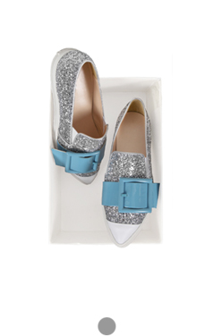 side buckled sequin slipon