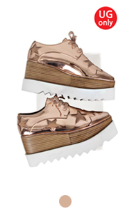 favorite oxford creepers with star <br> (Metallic pink)