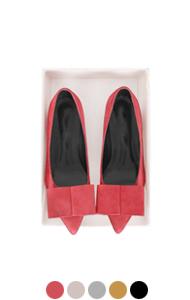 square bow block heel pumps (mid-heel)