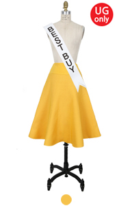 "UTG circle skirt (yellow) <br> <font color=#82C7E4 size=""1.9"" face=verdana>SALE</font>"