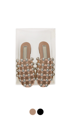 ball studded slippers