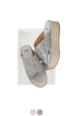glitter espadrille slippers