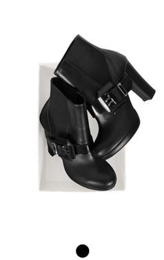 side buckle platform boots