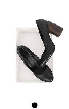chunky wood heel pumps
