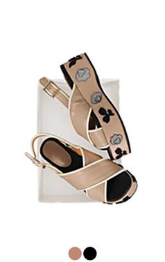 [GOOD PRICE] <br> applique wedge sandals