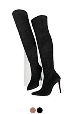 feminine thigh high boots