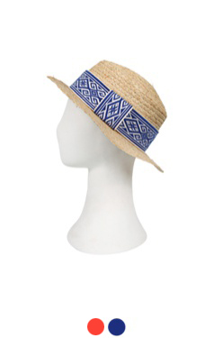 "UTG raffia hat # 07 <br> <font color=#82C7E4 size=""1.9"" face=verdana>COLOR ADD</font>"