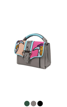 colorful patchwork mini-bag