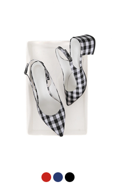 simple gingham slingback pumps