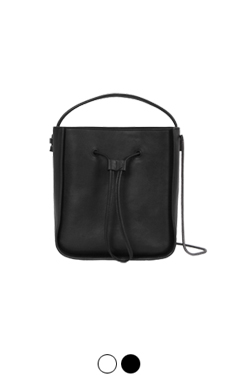 city ​​leather bucket bag