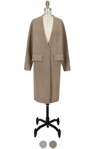 "flap pocket robe cardigan <br> <font color=#82C7E4 size=""1.9"" face=verdana>(2</font> colors) RESTORE"