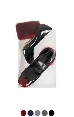 mink-fur-heel pumps
