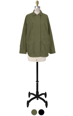 textured standard mili jacket