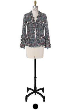 pearly fringe tweed jacket