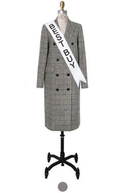 """mustbuy double-breasted glan coat <br> <font color=#82C7E4 size=""""1.9"""" face=verdana>SIZE ADD</font>"""
