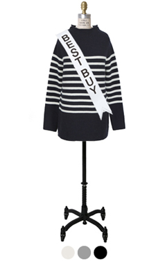 halfneck striped pullover