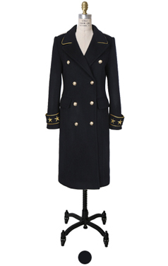 star embroidary double coat