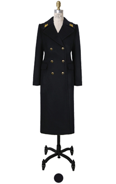 (Luxe) embroidery navy coat