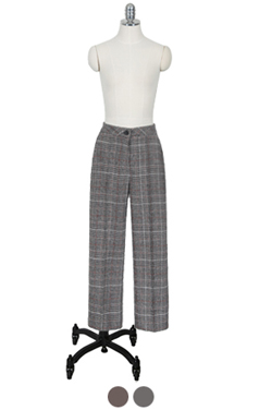 pintuck glencheck trousers