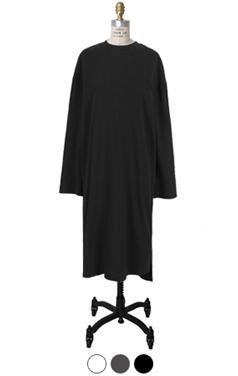 wing-hem cotton dress