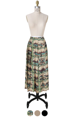"daily pleated skirt <br> <font color=#82C7E4 size=""1.9"" face=verdana>SIZE ADD</font>"