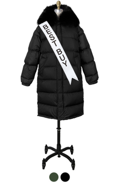 fox-collar down puffer