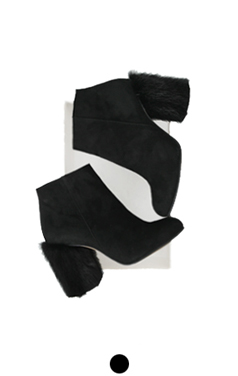 mink heel ankle boots