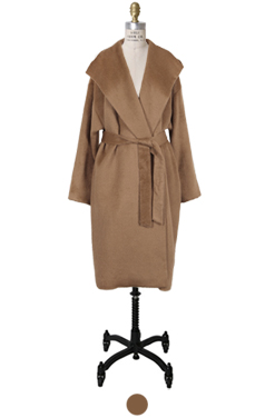 LUXE hooded suri-alpaca coat
