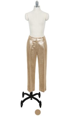 gold foil coated trousers